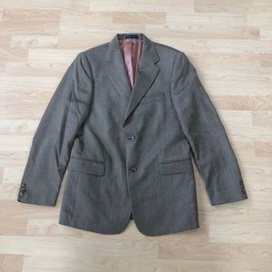 Austin Reed Brown Herringbone Blazer